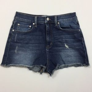 Pink Victoria Secret Distressed Jean Cutoff Shorts